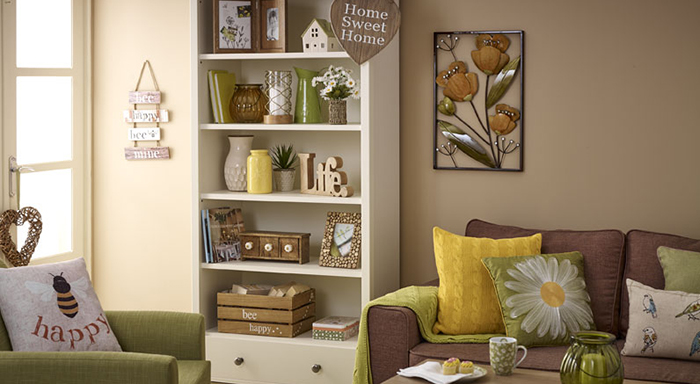 Amber is wilkos easy living trend warm cosy and calm welcome the summer into your home with meadow prints and daisy motifs through a palette of