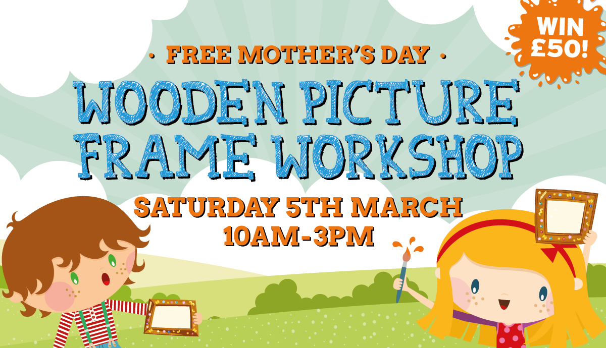 FREE Wooden Picture Frame Workshop