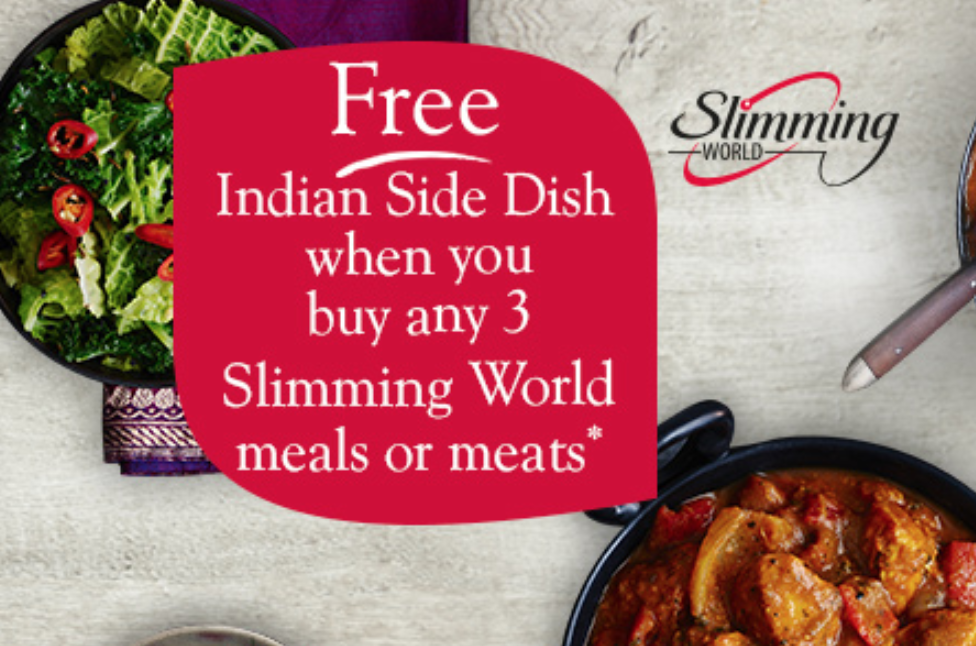 Free Indian Side Dish When You Buy Any 3 Slimming World